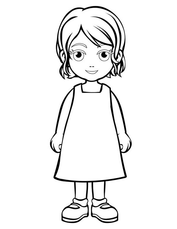 People, : Daughter of People Coloring Page