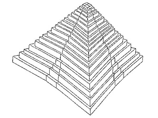 Pyramid, : Drawing a Pyramid Coloring Page