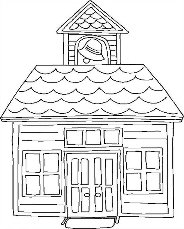 coloring pages old schoolhouse | Education School House Coloring Page : Coloring Sky
