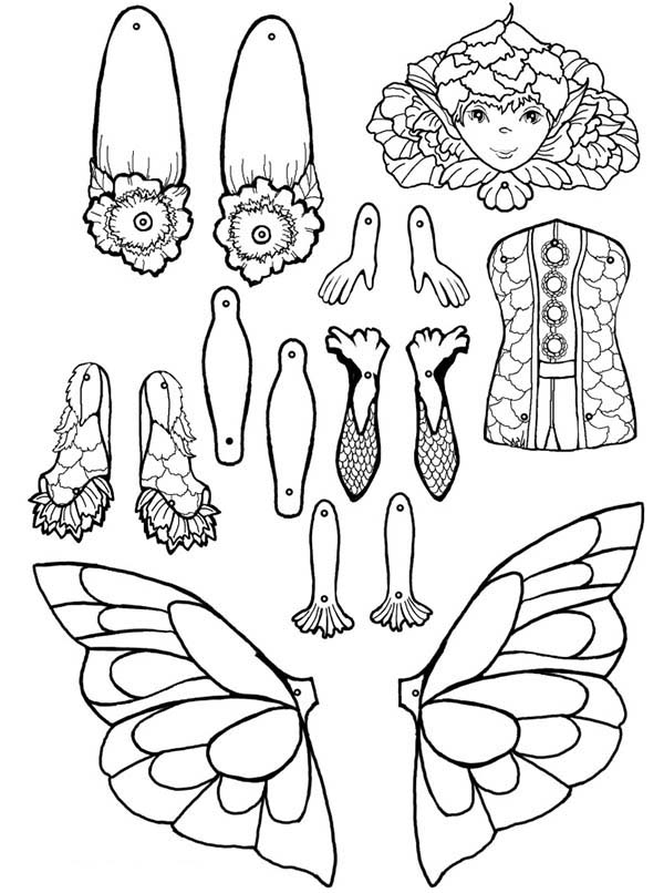 Puppet, : Ferne Puppet Part Coloring Page