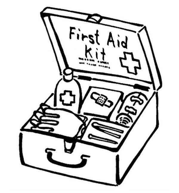 It's just an image of Juicy first aid coloring page