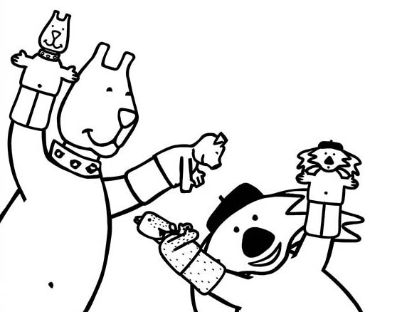 Puppet, : Glove Puppet Coloring Page