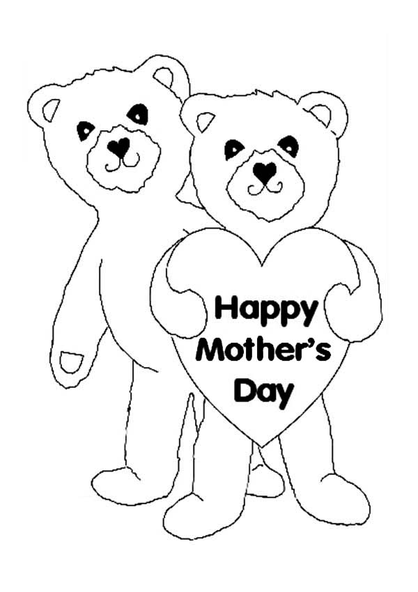 Happy Mothers Day For Teddy Bear