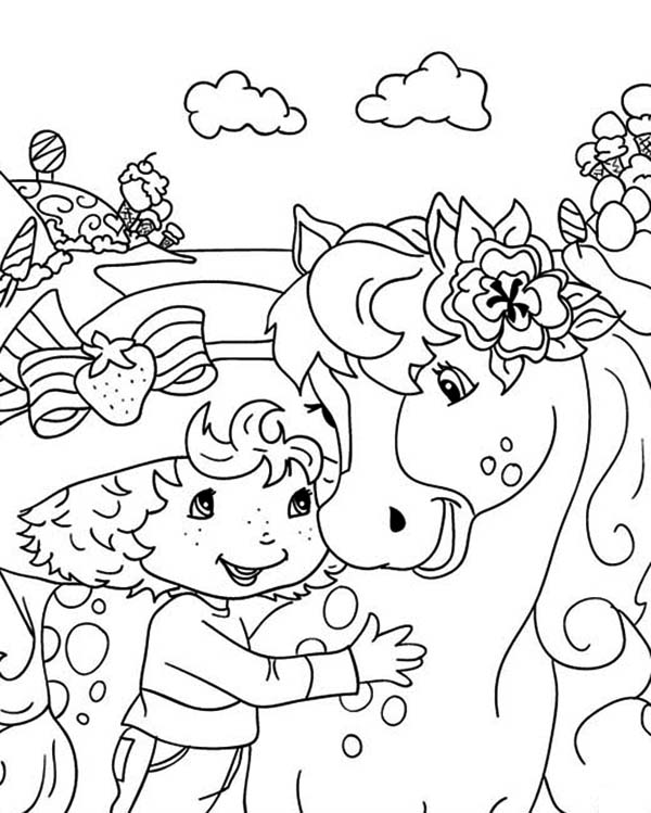 Strawberry Shortcake, : Honey Pie Strawberry Shortcake Pony Coloring Page