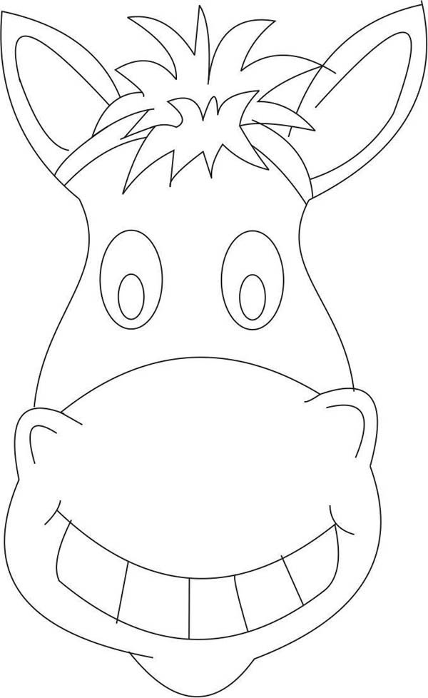 Horse Mask Coloring Page : Coloring Sky