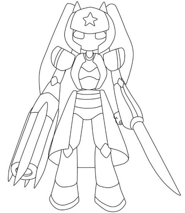 Medabots, : How to Draw Medabots Character Coloring Page