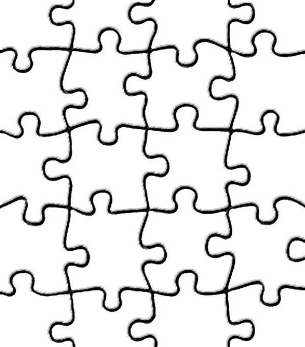Puzzles, : How to Draw Puzzles Coloring Page