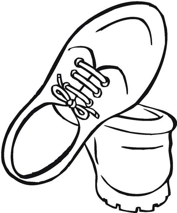 Shoes, : How to Draw Shoes Coloring Page