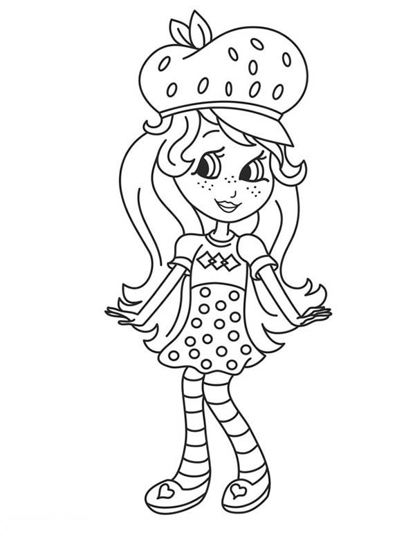 Strawberry Shortcake, : How to Draw Strawberry Shortcake Coloring Page