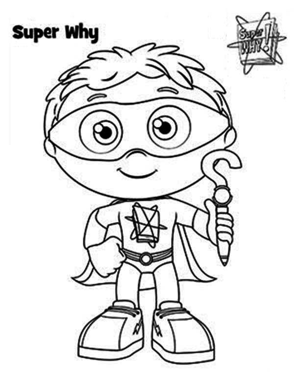 Superwhy, : How to Draw Whyatt from Superwhy Coloring Page