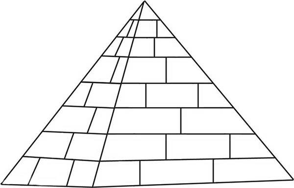 How To Draw A Pyramid Coloring Page Coloring Sky