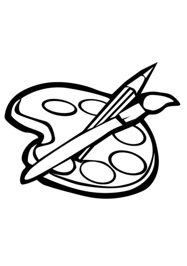 Paint, : How to Paint Coloring Page