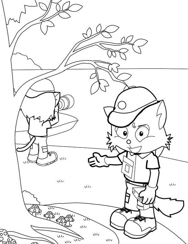 Photography, : Hunting Picture in Photography Coloring Page