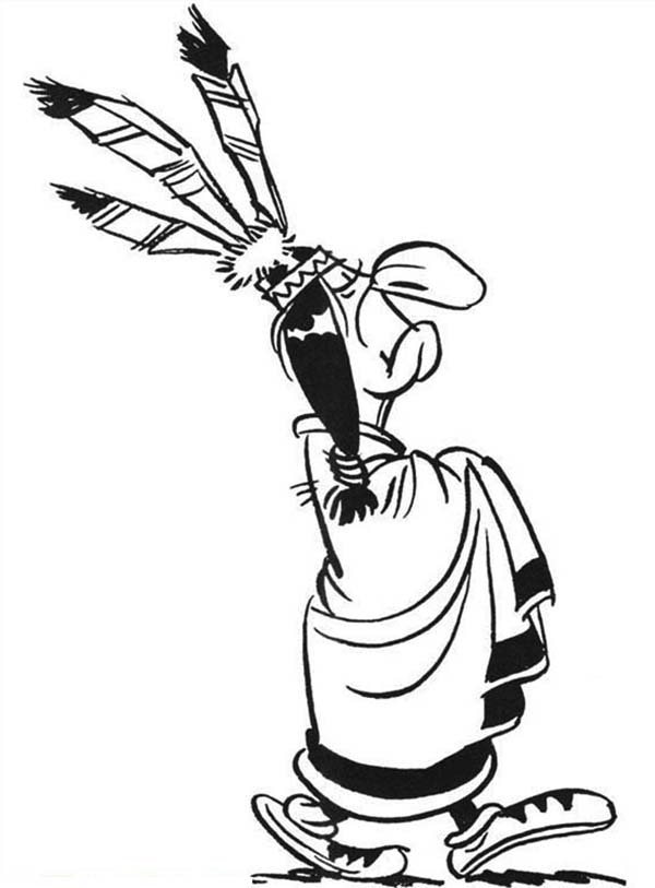 Indian Chief In Lucky Luke Coloring