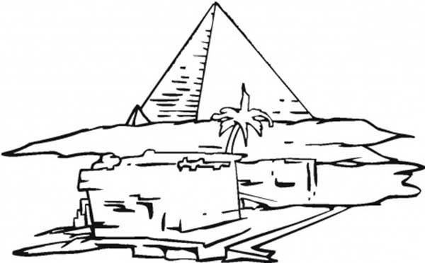 Pyramid, : Introducing Pyramid to Kindergarten Kids Coloring Page
