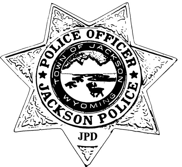 Police Badge, : Jackson Police Badge Coloring Page