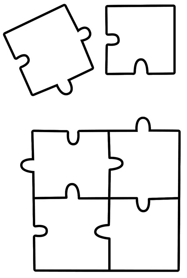 Puzzles, : Jigsaw Puzzles Pieces Coloring Page