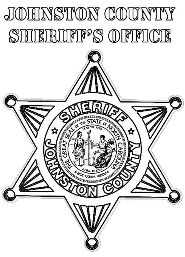 Johnston County Sheriff Badge Coloring Page Coloring Sky