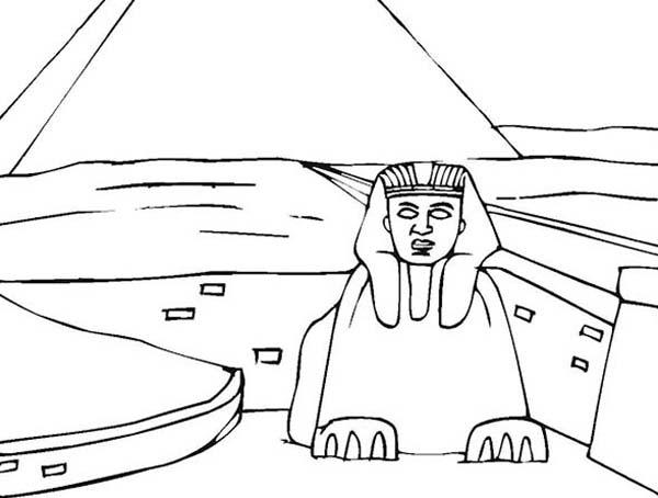 Pyramid, : Khufus Great Pyramid Coloring Page