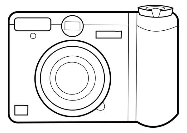 Photography, : Learn Photography with Pocket Camera Coloring Page