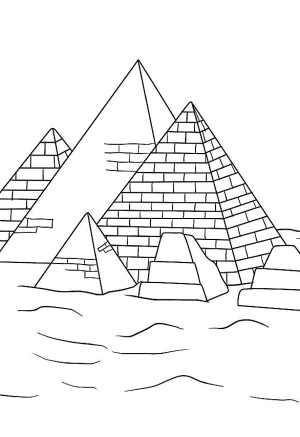 Pyramid, : Learn about History of Pyramid Coloring Page