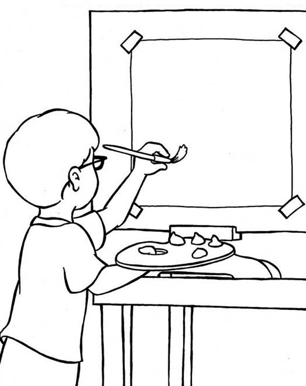 Paint, : Learn to Paint Coloring Page