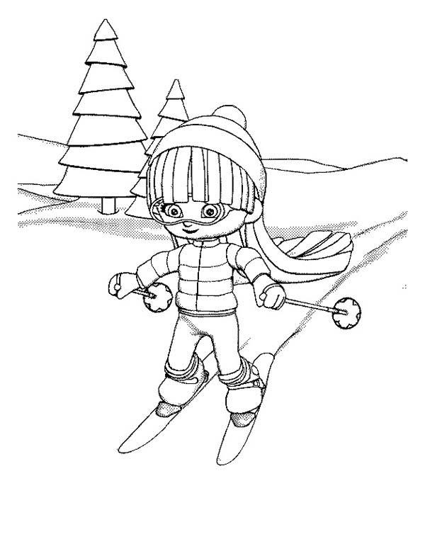 downhill skiing coloring pages - photo#26