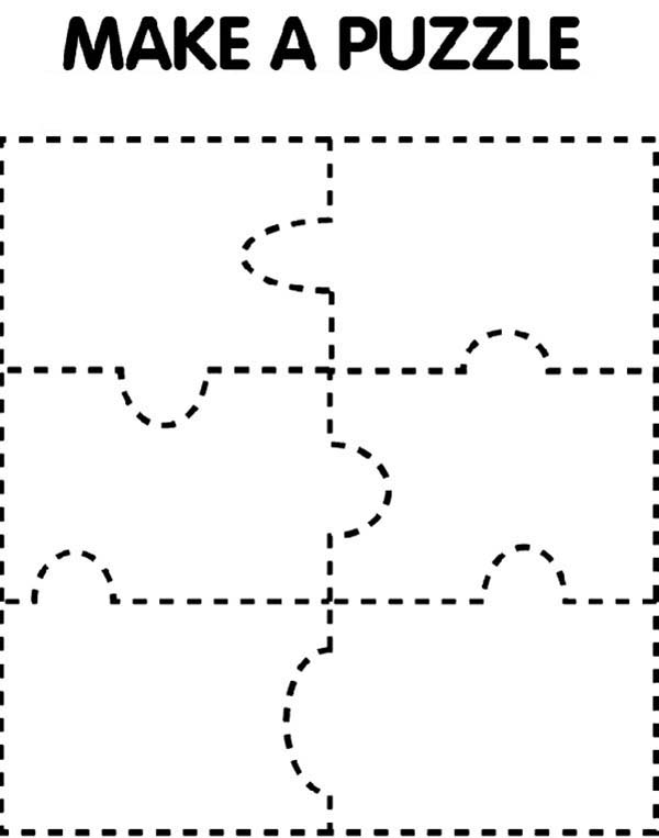 Puzzles, : Lets Make Puzzles Coloring Page