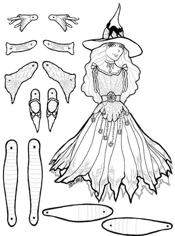 Puppet, : Marcella Puppet Part Coloring Page