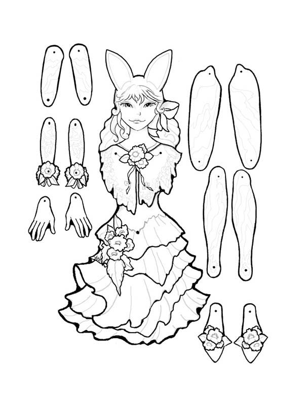 Puppet, : March Puppet Part Coloring Page