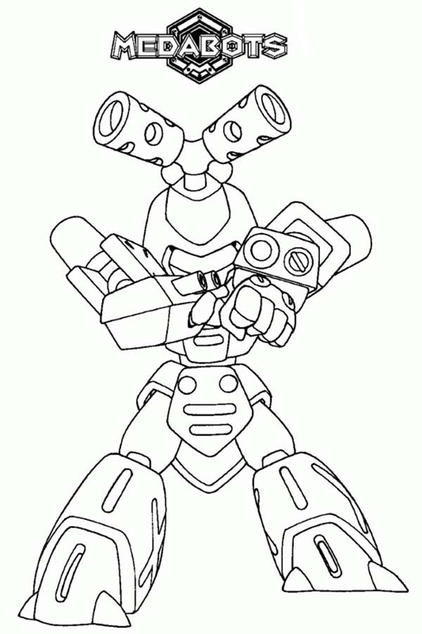 Medabots, : Medabots Character Metabee Coloring Page