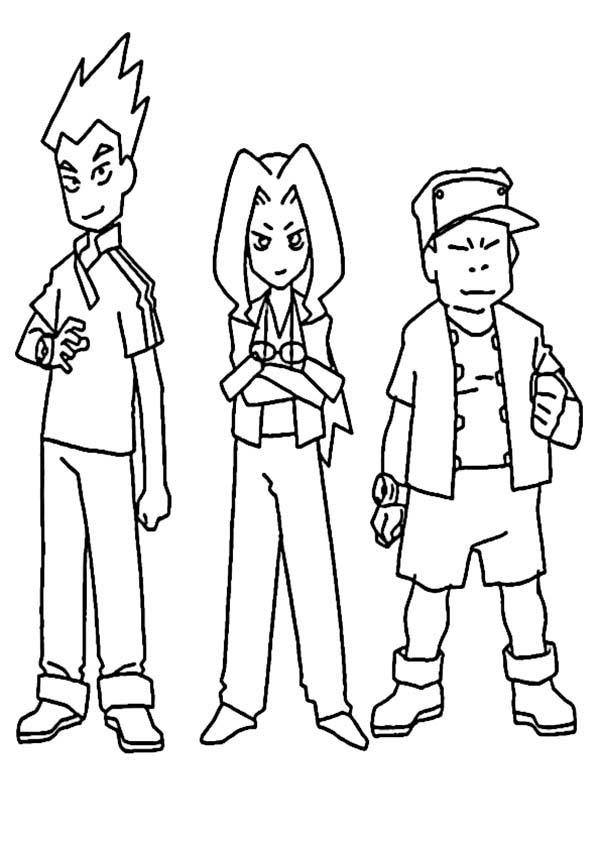 Medabots, : Medabots Human Characters Coloring Page
