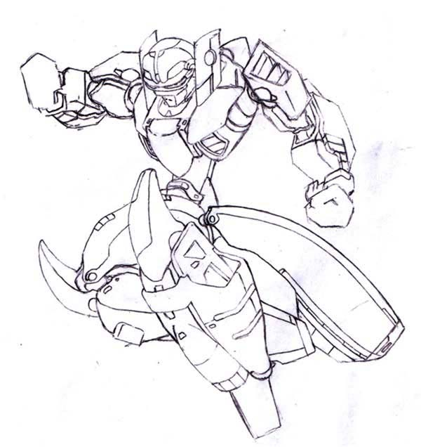 Medabots, : Medabots Leader Knightsfaith Coloring Page