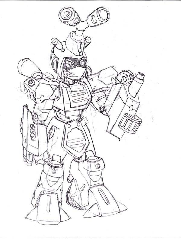 Medabots, : Medabots Metabee Coloring Page