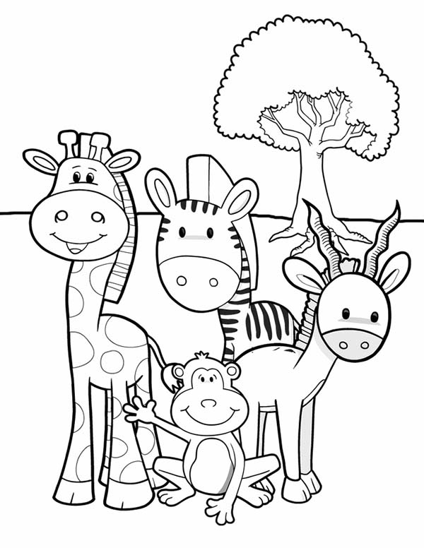 African safari coloring pages coloring pages for Safari animal coloring pages