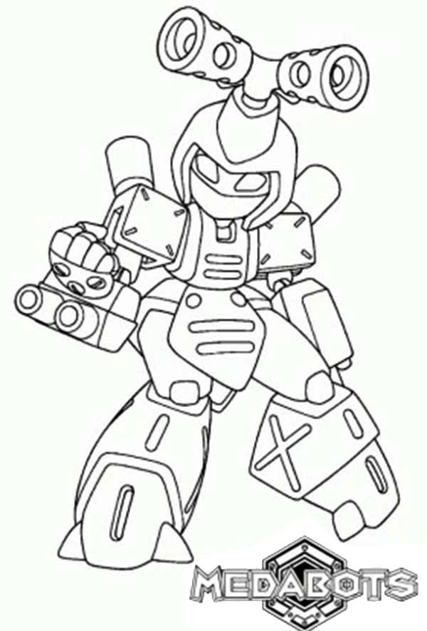 Medabots, : Metabee from Medabots Coloring Page