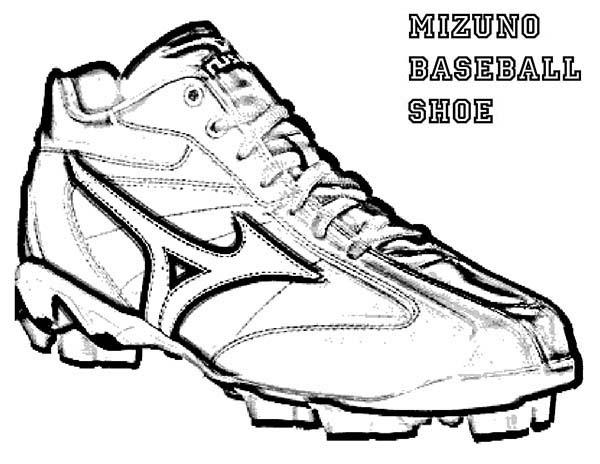 Shoes, : Mizuno Baseball Shoes Coloring Page
