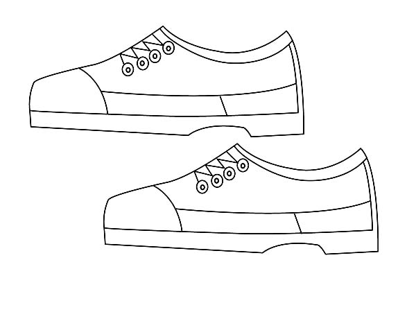Shoes, : My Father Shoes Coloring Page