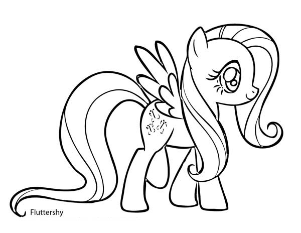My Little Pony Fluttershy Coloring Page : Coloring Sky