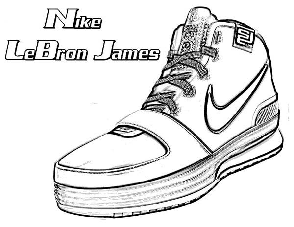 Nike LeBron James Shoes Coloring Page : Coloring Sky