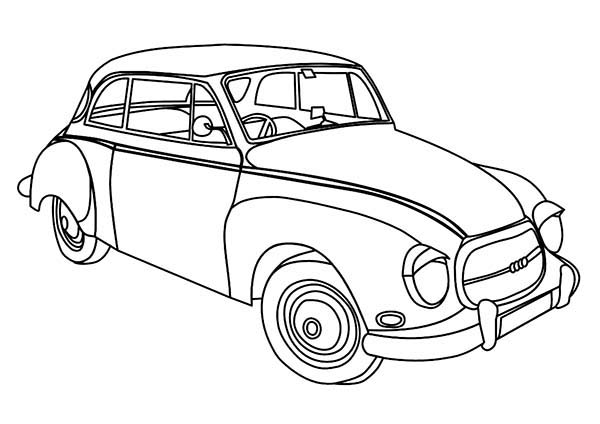 old car coloring page for preschool kids coloring sky. Black Bedroom Furniture Sets. Home Design Ideas