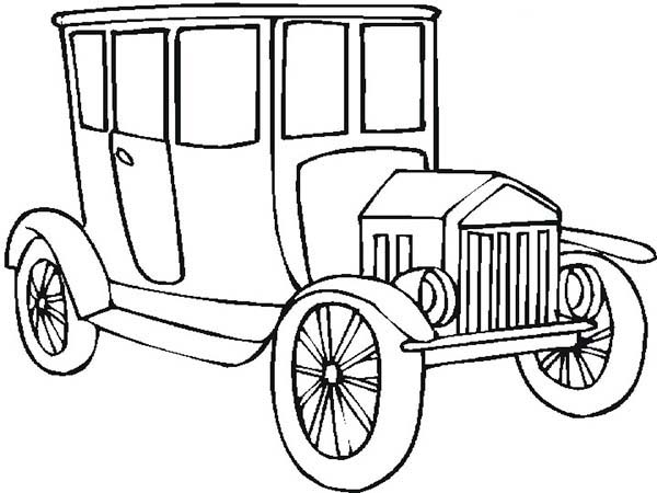 old car for classy people coloring page