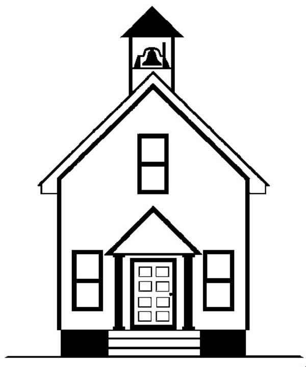 School House, : Old School House Where I Learn Coloring Page