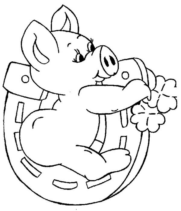 Pig, : Olivia the Pig Coloring Page