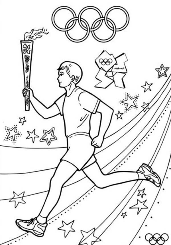 - Olympic Games About To Start Once Olympic Torch Light Coloring Page :  Coloring Sky