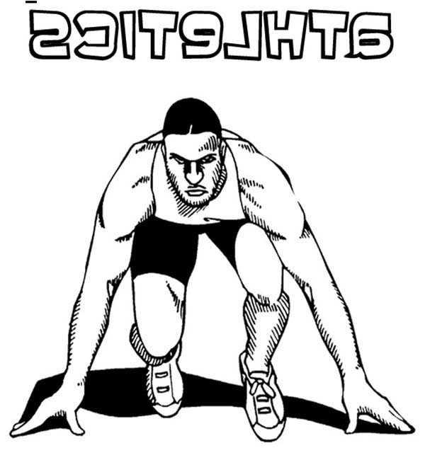 Olympic Games, : Olympic Games Athletics Olympic Games Coloring Page