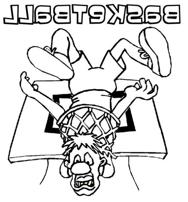 Olympic Games, : Olympic Games Basketball Coloring Page