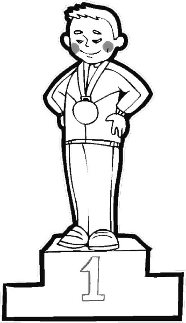 Olympic Games, : Olympic Games Champion Coloring Page