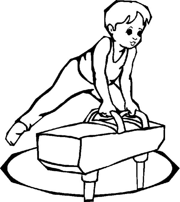Olympic Games, : Olympic Games Competition Coloring Page