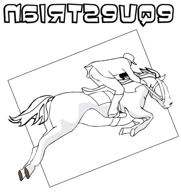 Olympic Games, : Olympic Games Equestrian Coloring Page